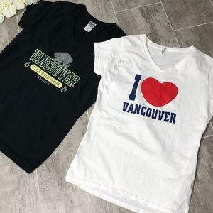 Bundle of 2 Vancouver v-neck graphic tees